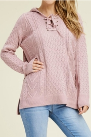 Staccato Lace Up Sweater - Product Mini Image