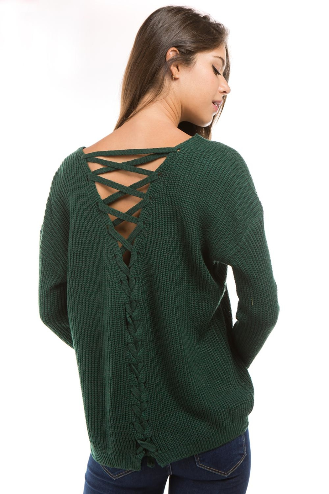 1 Funky Lace Up Sweater - Main Image