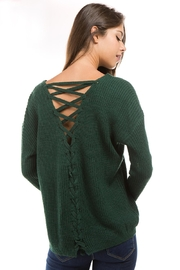 1 Funky Lace Up Sweater - Front cropped