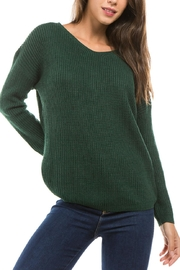 1 Funky Lace Up Sweater - Front full body