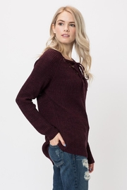 Love Tree Lace Up Sweater - Front full body