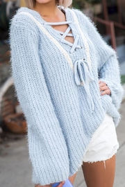 POL Lace-Up Sweater - Product Mini Image