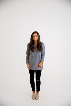 Karlie Lace-Up Sweater Tunic - Product List Image
