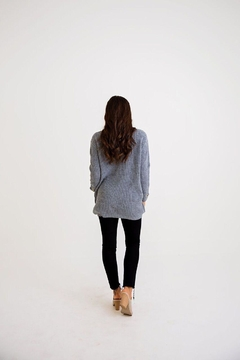 Karlie Lace-Up Sweater Tunic - Alternate List Image