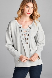 Racine Lace Up Sweatshirt - Product Mini Image