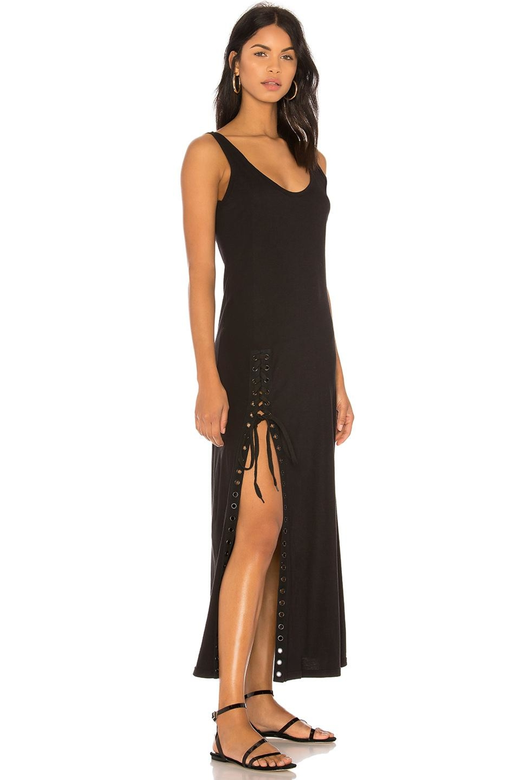 Kendall + Kylie Lace-Up Tank Dress - Front Full Image