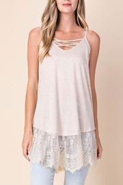 Kori Lace-Up Tank Top - Product Mini Image