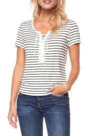 Dex Lace-Up Tee - Front cropped