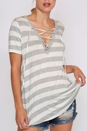 Fantastic Fawn Lace-Up Tee - Front cropped