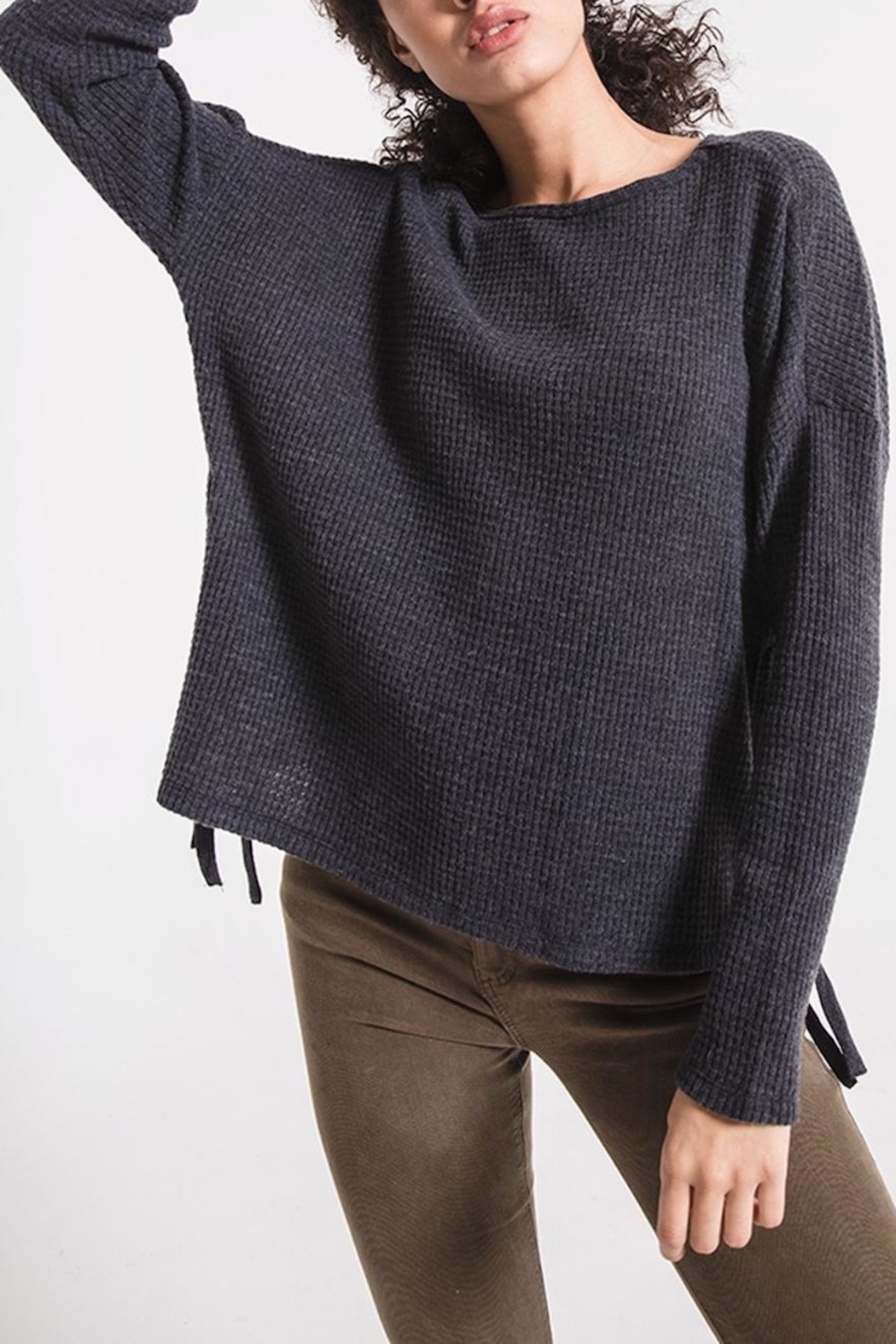 z supply Lace Up Thermal - Side Cropped Image