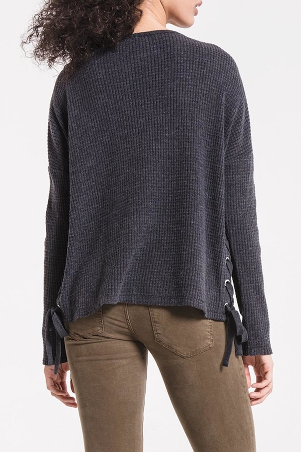 z supply Lace Up Thermal - Back Cropped Image