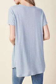 KORI AMERICA Lace Up Top - Front full body