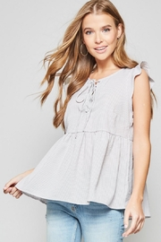 Andree by Unit Lace Up Top - Product Mini Image