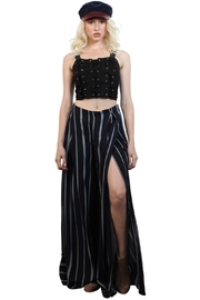 Rock Etiquette Lace Up Top - Front cropped