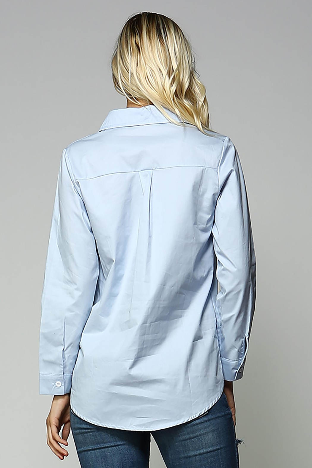 Racine Lace Up Top - Back Cropped Image