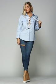 Racine Lace Up Top - Front full body