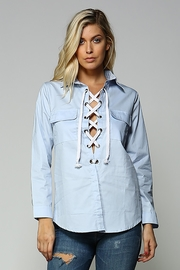 Racine Lace Up Top - Product Mini Image