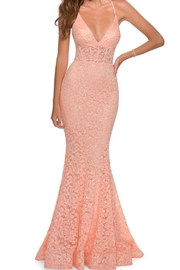 La femme Lace V-Neck Gown - Product Mini Image