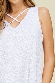 White Birch Lace V-Neck Tank - Back cropped