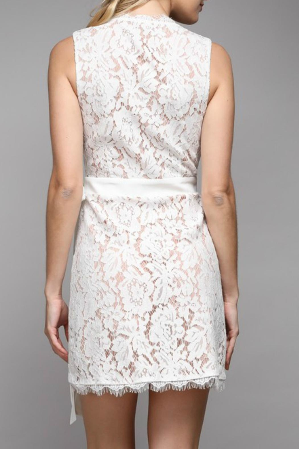 Pretty Little Things Lace Wrap Dress - Front Full Image