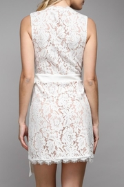 Pretty Little Things Lace Wrap Dress - Front full body