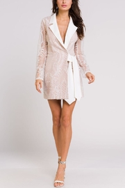 Blithe  Lace Wrap Tuxedo-Dress - Front cropped