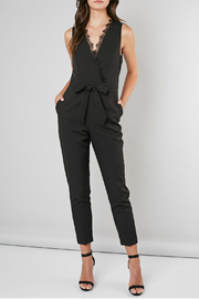 Do & Be LACE WRAP V-NECK JUMPSUIT - Product Mini Image