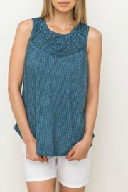 Mystree Lace Yoke Top - Product Mini Image