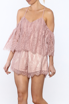 Selfie Leslie Lace Yourselves Romper - Product List Image