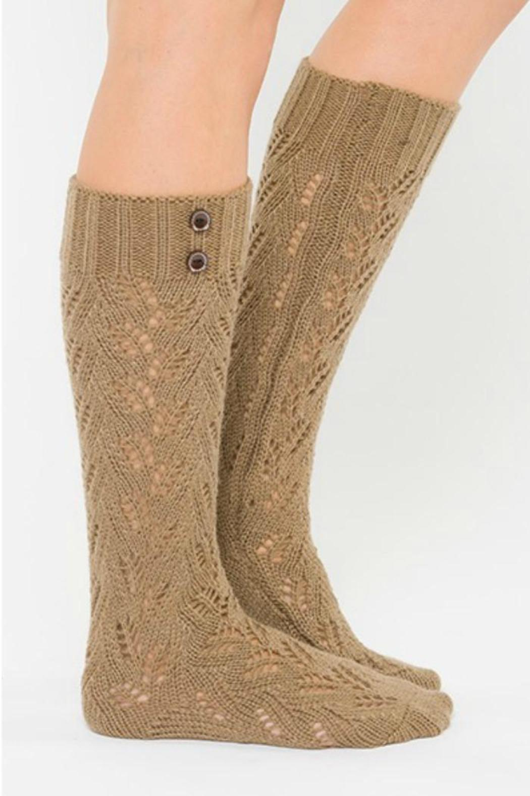 lace lemons brown boot socks from seattle by miss shasha