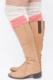 Lace & Lemons Coral Boot Sock - Front cropped