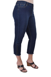 True Blue Clothing Laced Ankle Capri - Product Mini Image
