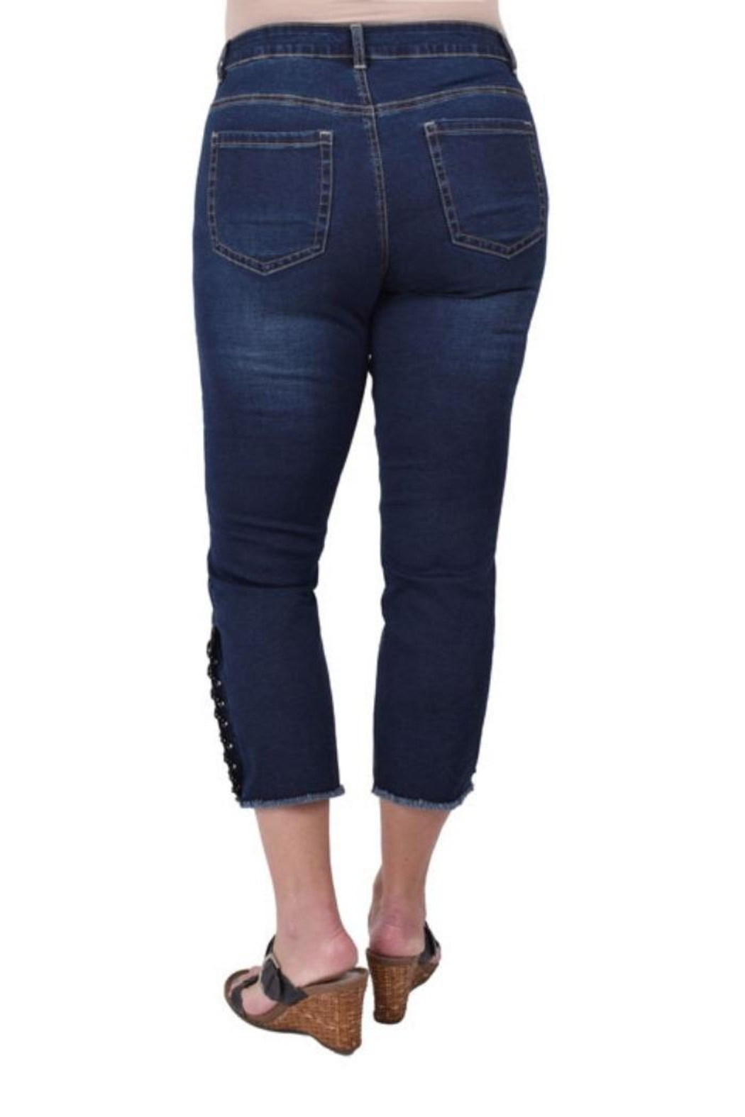 Ethyl Laced Ankle Capri - Front Full Image