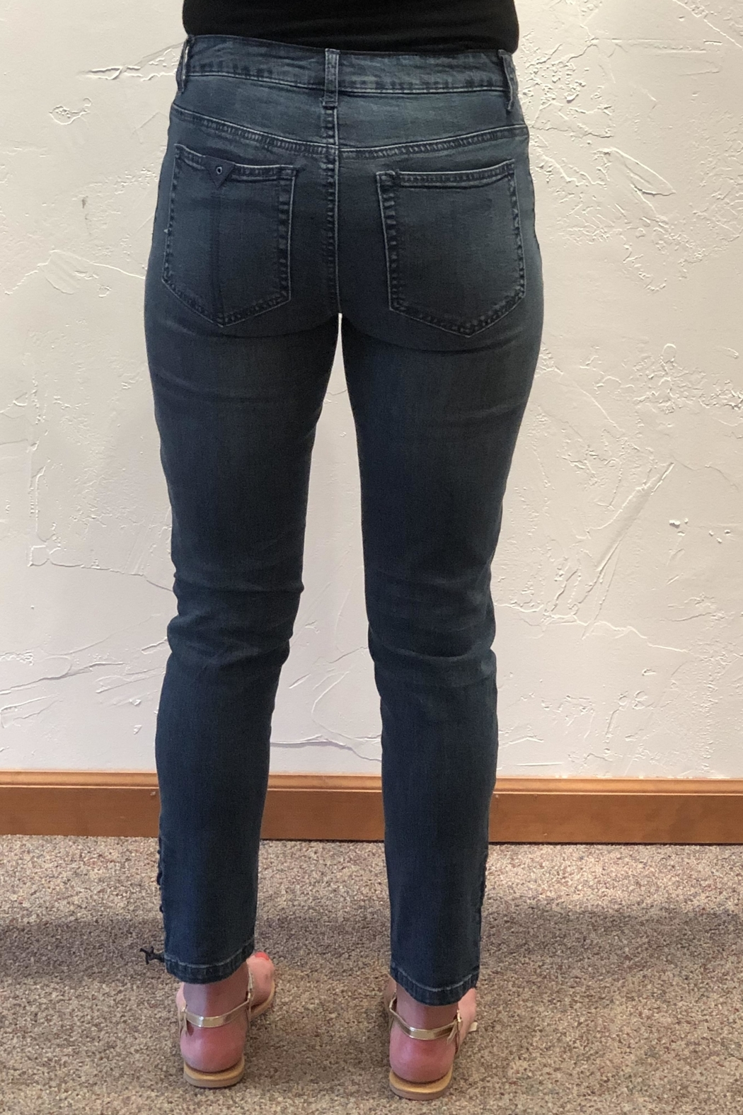 Tru Luxe Laced Ankle Jeans - Main Image