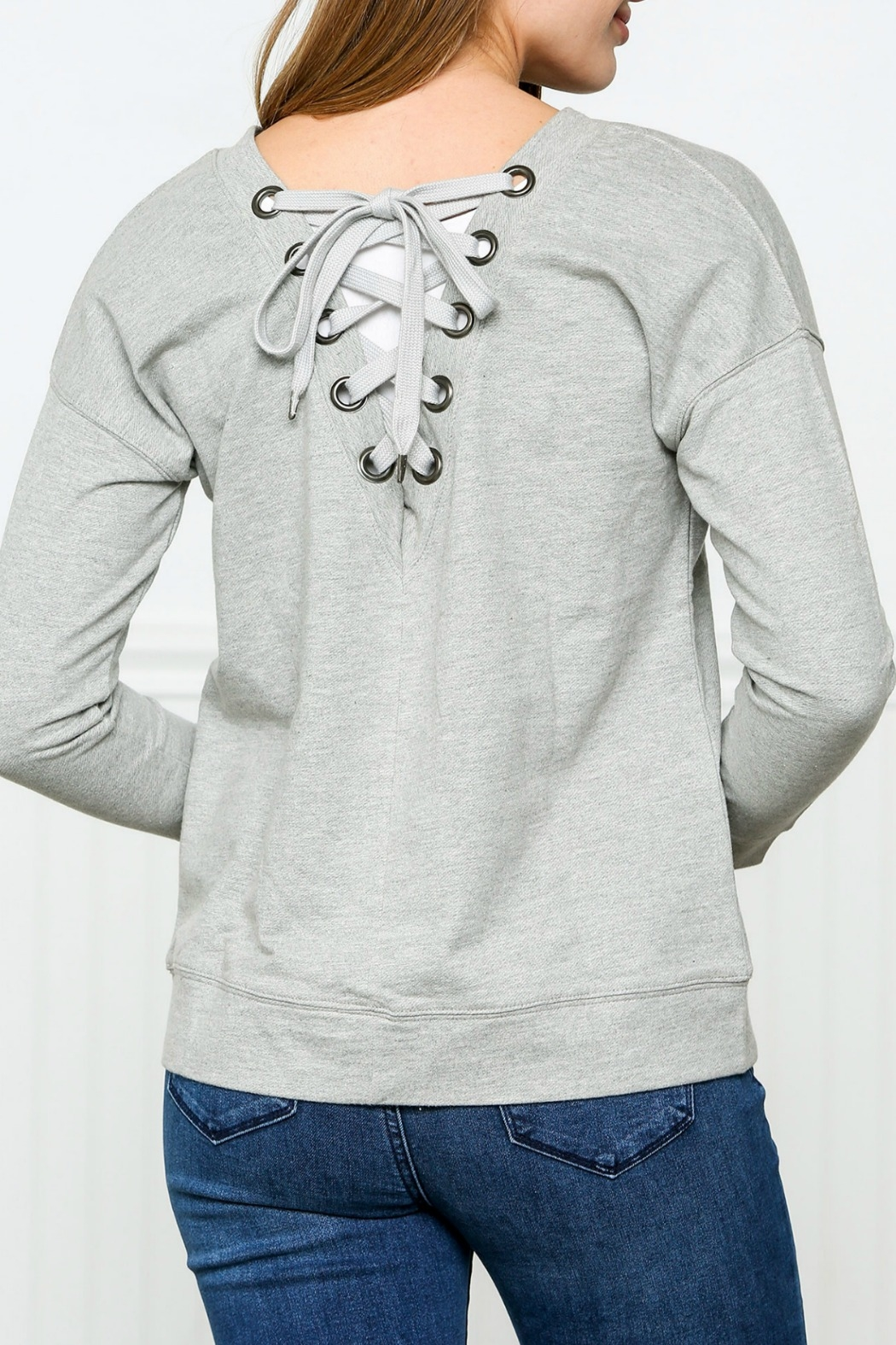 Down East Laced Back Sweatshirt - Front Full Image