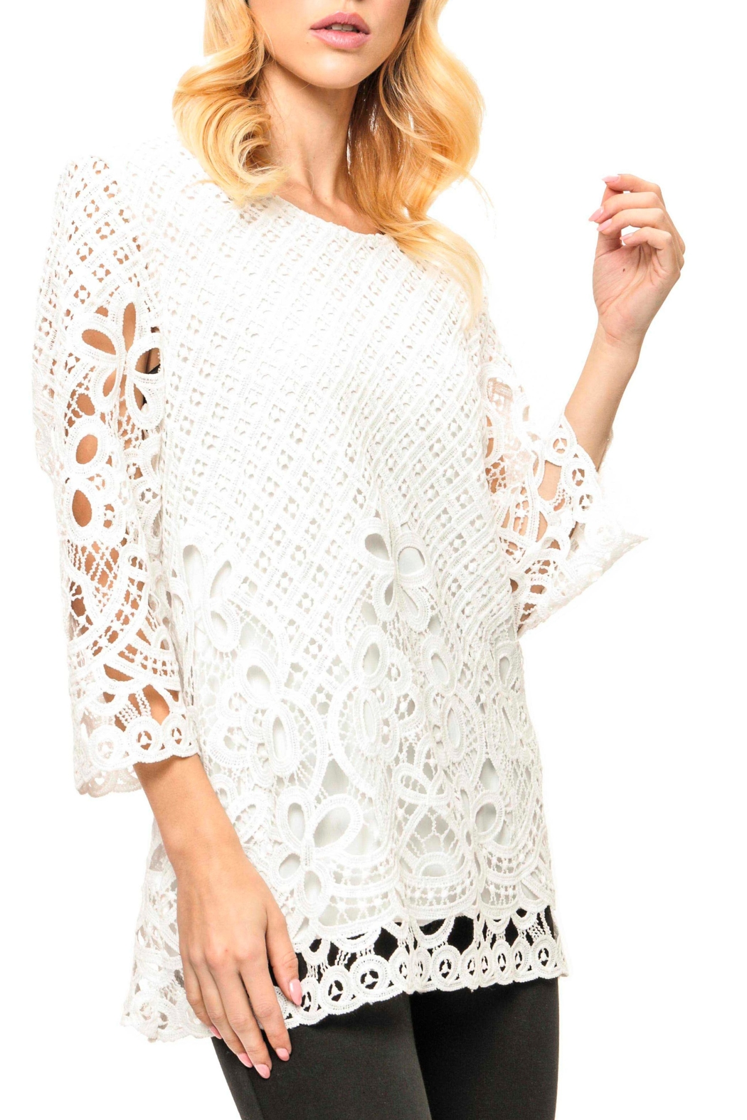 Adore Laced  Crochet Top - Main Image