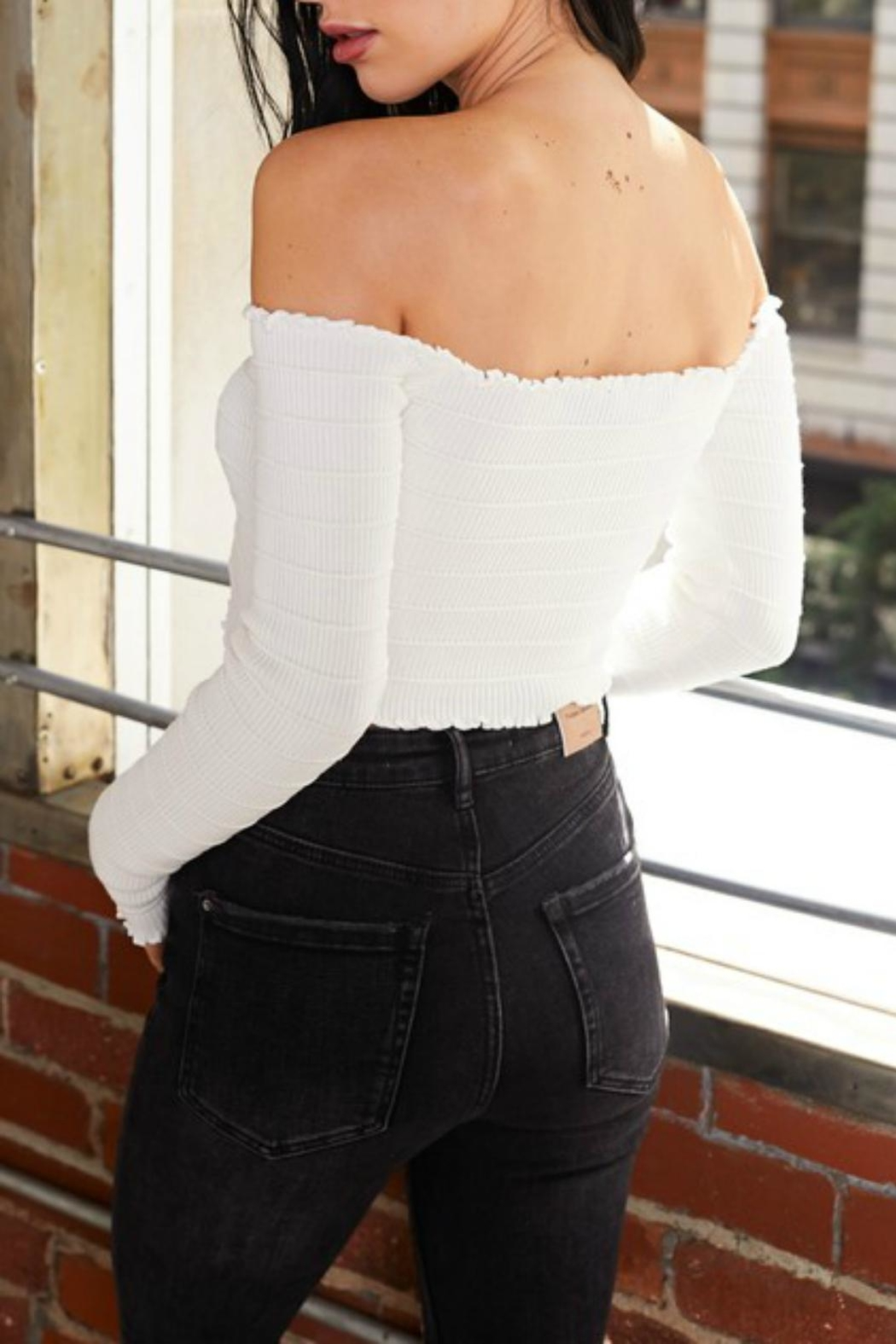 Pretty Little Things Laced Crop Top - Front Full Image