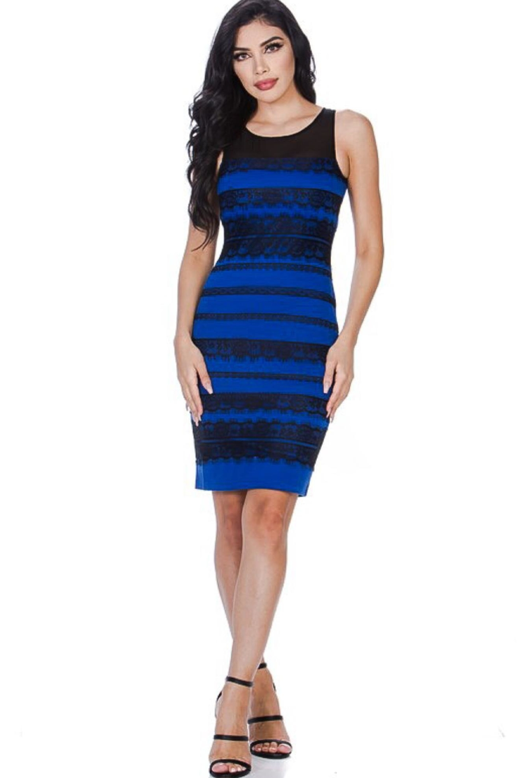 Leshop Laced Detailed Bodycon - Main Image