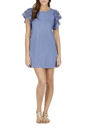 Joy Joy Laced Sleeve Dress - Product Mini Image