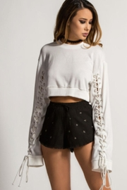 TIMELESS Laced Up Pullover - Front full body