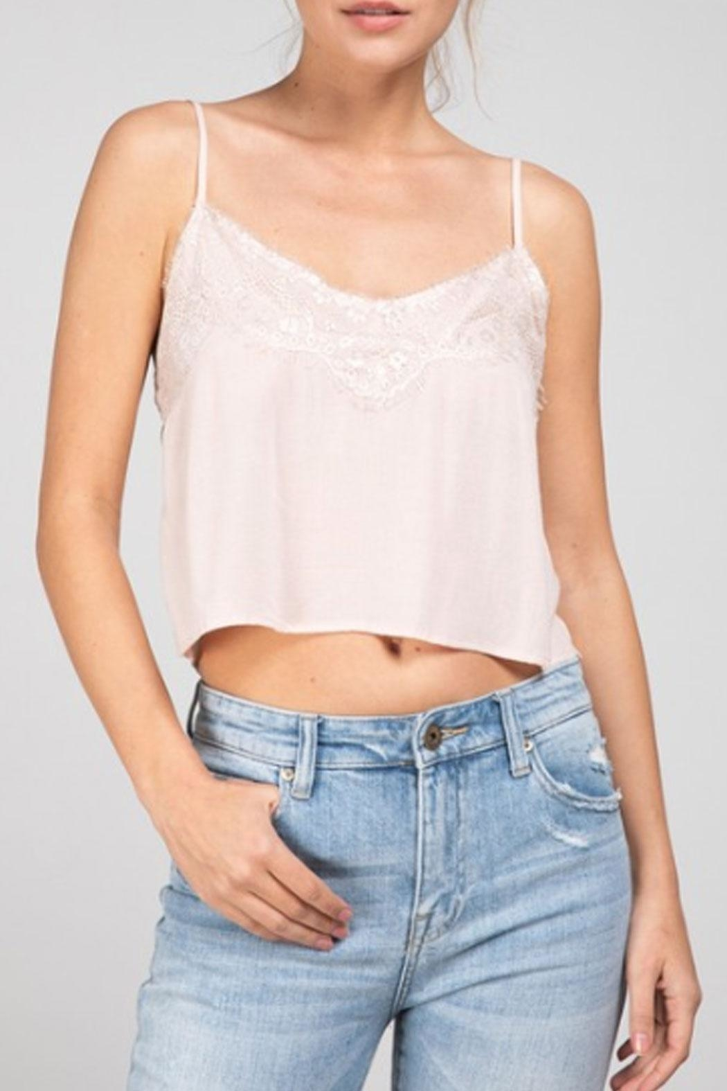 Grade and Gather Lacey Cropped Tank - Side Cropped Image