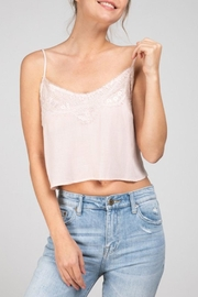 Grade and Gather Lacey Cropped Tank - Front cropped