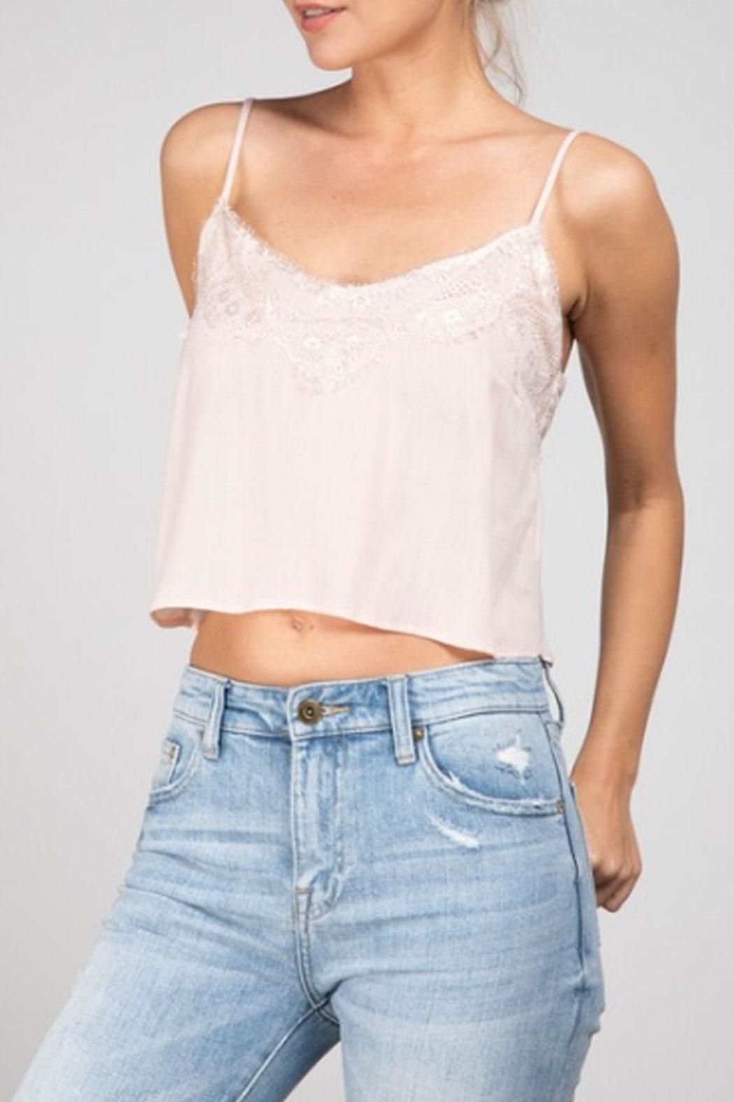 Grade and Gather Lacey Cropped Tank - Front Full Image