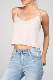 Grade and Gather Lacey Cropped Tank - Front full body
