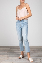 Grade and Gather Lacey Cropped Tank - Back cropped