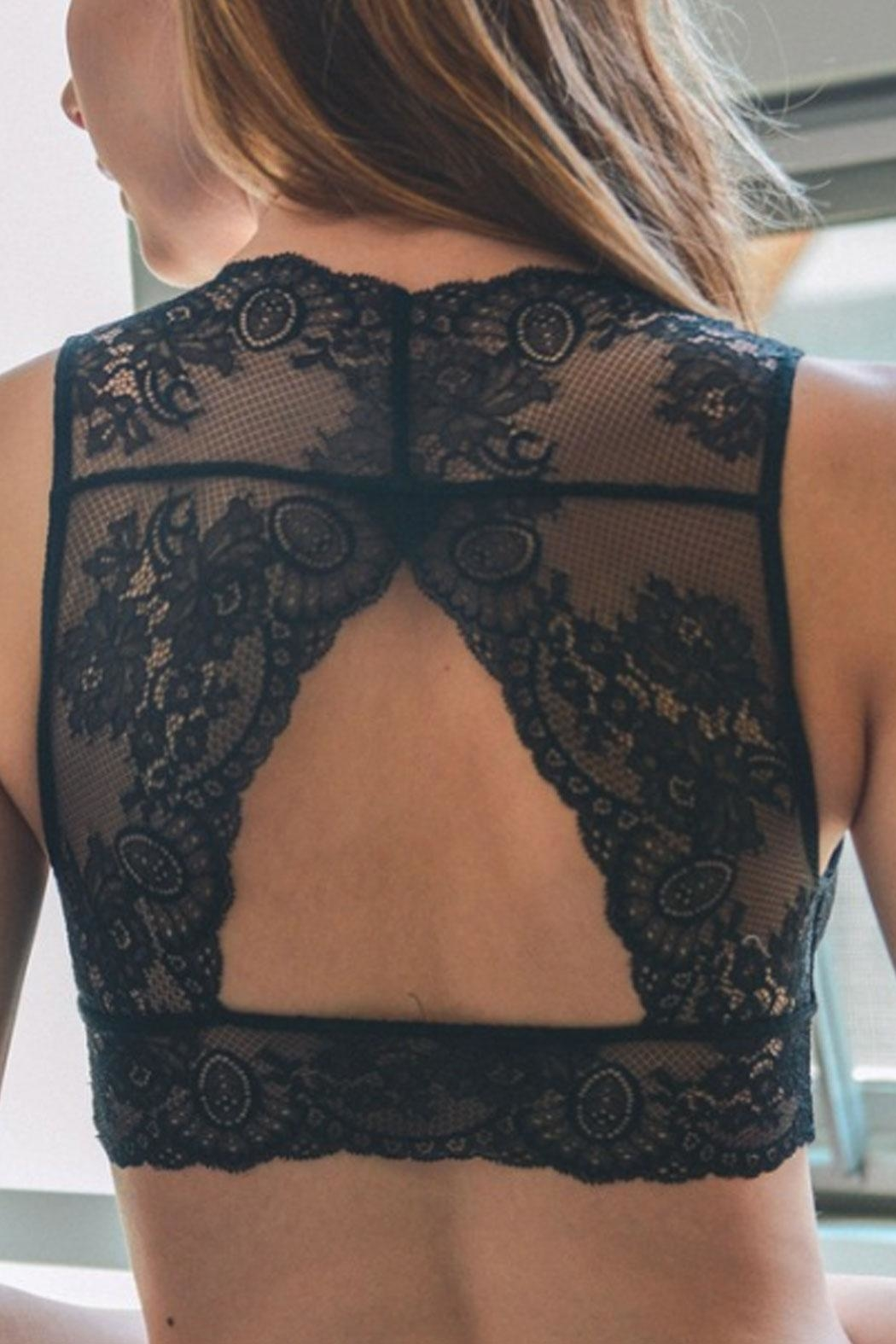 Runway & Rose Lacey Open-Back Bralette - Main Image