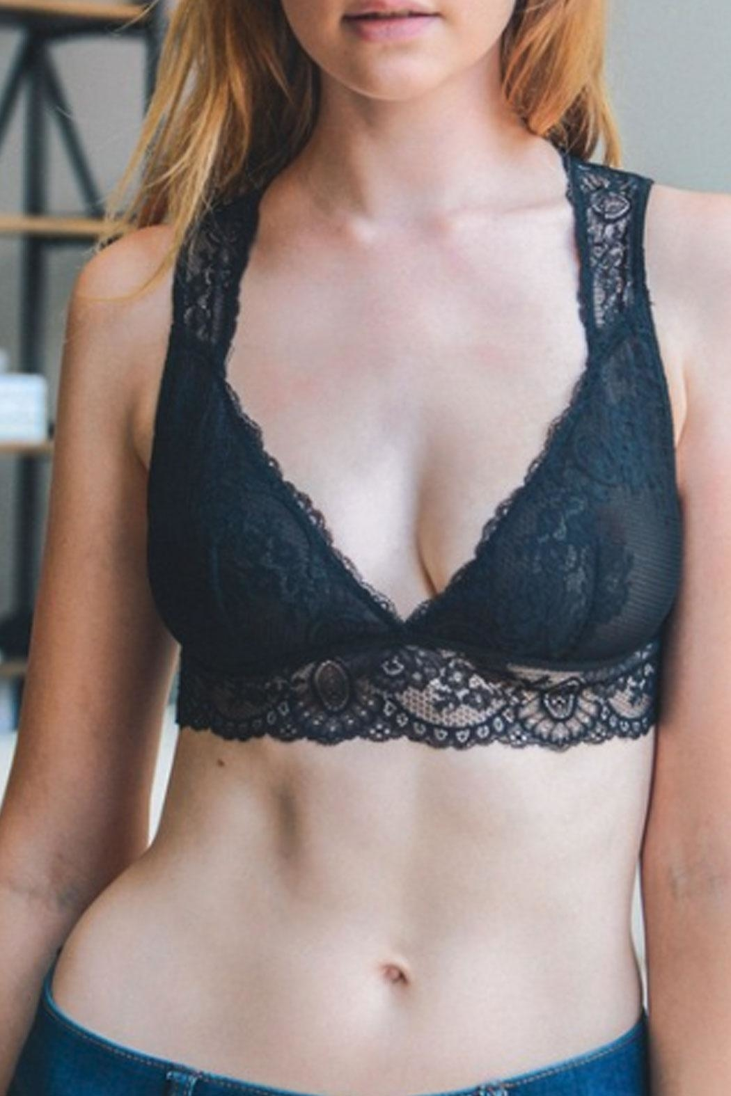 Runway & Rose Lacey Open-Back Bralette - Side Cropped Image