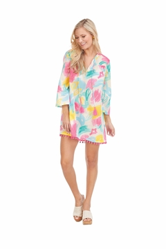 Mud Pie  Lacey Pom Pom Coverup - Product List Image