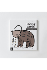 Wee Gallery Lacing Cards - Woodland Animals - Product Mini Image