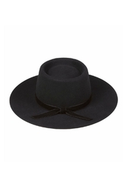 Lack Of Colour Velveteen  Boater Hat - Side cropped